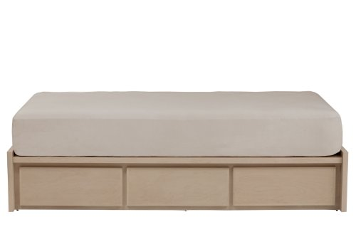 Unfinished Bed King Size (urbangreen furniture unfinished maple Thompson California King Storage Bed - 6 Drawer)