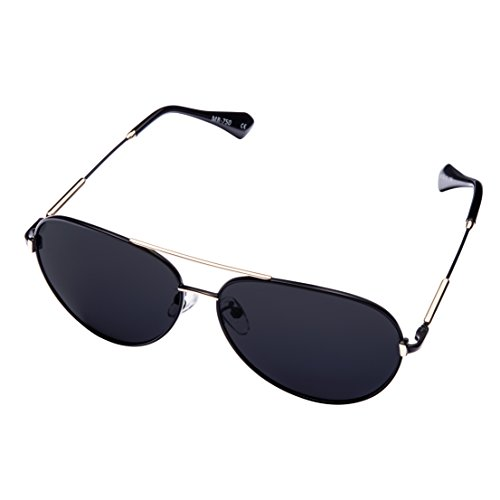 MIRA MR-750 Aviator Sunglasses 2019 Model- Polarized Lenses with 100% UVA and UVB Outdoor Protection - Comfortable Unisex Retro Design - Includes Presentation Box & Microfiber Carrying Bag (Best Polarized Sunglasses For Fishing 2019)