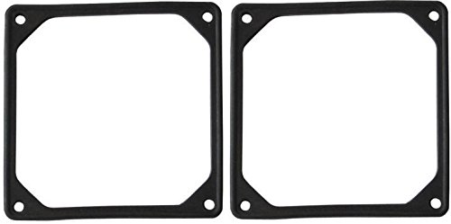 Gasket Fan (120mm Fan Silicone Soft Anti-Vibration Noise Reduction Silencer Gasket - Black (Set of 2))
