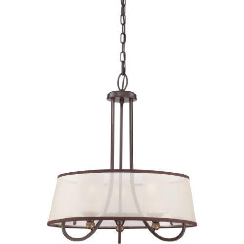 Quoizel PLR2820PN Three Light Pendant, Large, Palladian Bronze