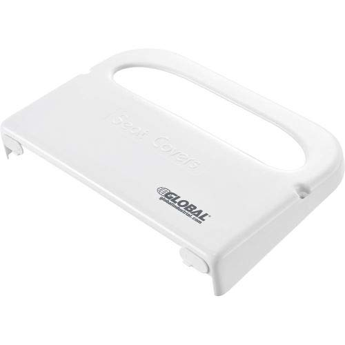 Global Industrial153; Plastic Toilet Seat Cover Dispenser 16''W x 2-1/5''D x 11''H - White, (Pack of 5)