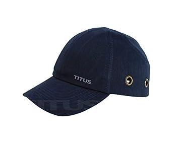 Titus Gorra de seguridad ligera - Gorra protectora estilo béisbol (azul marino) por Titus CSE: Amazon.es: Hogar