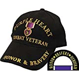 Purple Heart Combat Veteran Hat - Veteran Owned Business