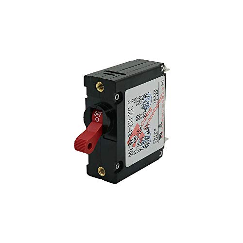 Toggle Electric Magnetic Circuit Breaker 15Amp ON/Off One Pole Red Handle Made by Ocean River