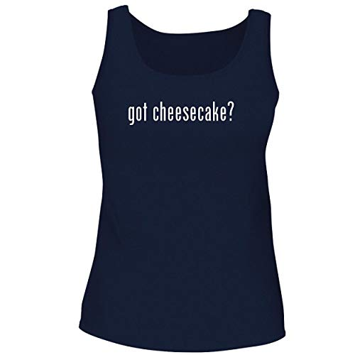 BH Cool Designs got Cheesecake? - Cute Women's Graphic Tank Top, Navy, Large