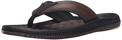 Dr. Scholl's Shoes Men's Donnar Flip Flop, Brown/Black, 10 M US