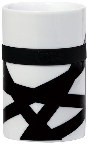 - PO: Ring Thermo Mug, Large, Bird Nest - Mug with Silicone Ring Set, Porcelain Silicone White - 250ml - 5.2 inches