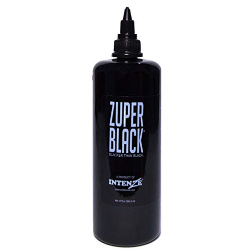Intenze Professional Tattoo Ink Zuper Black 12 oz