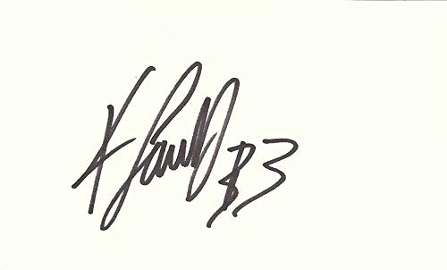 Kevin Faulk Signed Autographed Index Card New England Patriots w/COA