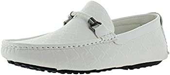 Moda Essentials Men's Driving Slip On Loafers Shoes Monogram
