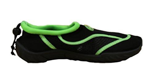 Rockin Chaussures Femmes Aqua Stripes Aqua Chaussettes Chaussures Deau Vert
