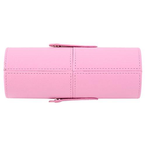 Estuche para brochas de maquillaje, maquillaje portátil, caja de almacenamiento para cosméticos, soporte para cubos, organizador de brochas, ...