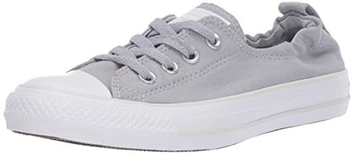 Converse Women's Chuck Taylor All Star Shoreline Linen Slip On Sneaker, Wolf Grey/Pure Platinum/White 6.5 M ()