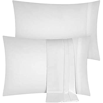 Utopia Bedding Pillowcases 2 Pack – (King, White) - Brushed Microfiber Pillow Covers
