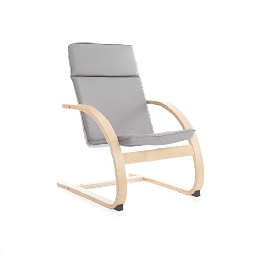 Guidecraft Nordic Rocker, Gray Cushioned Chair - Furniture by Guidecraft
