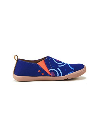 Couple Blue Canvas Blue Printed Men's Loafer Shoe UIN 0zE6xwn0
