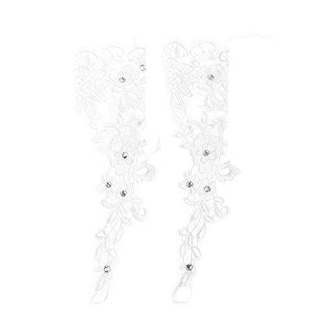 Kofun Braut Handschuhe f/ür Hochzeit Lace Bridal Dress Luxus Lange Fingerlose Zubeh/ör Party wei/ß