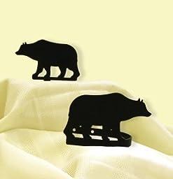 Wrought Iron Bear Tie Backs 5 In. W x 3 3/8 In. H