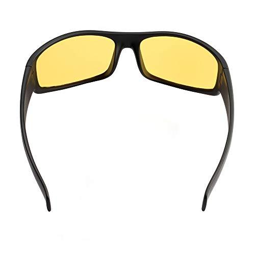 Pescar Lente con Ir en un Hombres un y e Aptos estuche bicicleta Montura Mujeres– Caza de UV – Envolvente para – sol Para pañuelo Amarilla Gafas y Cómoda Negro duro Protección Incluye Marco nq7gw8WUCn