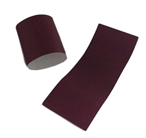 MT Products Self-Adhering Bond Paper Napkin Band 1.5 inches x 4.25 inches by Pack of 750 Pieces (Burgundy) by MT Products