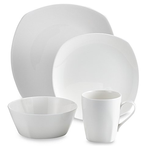 Tabletops Unlimited Quattro Bone China 16-Piece Dinnerware Set