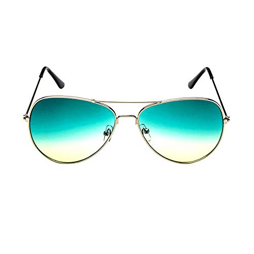 Pausseo Unisex Womens Mens Outdoor Casual Metal Frame Polarized Aviator Gradient Mirrored Lens Sunglasses Summer Sports Running Cycling Fishing Driving Hiking Radiation Protection Summer Glasses