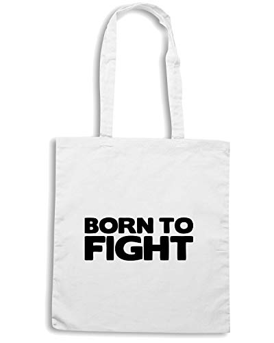 Borsa BORN Shopper Bianca TAM0011 FIGHT TO wwOrTFxqf6