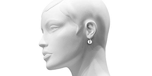 Canyon bijoux Boucles d'oreilles dormeuses boule en argent 925 passivé, 6.2g, Ø14mm