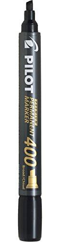 (Pilot Premium 400 Permanent Marker, Broad Chisel Tip, Black, Pack of 4)