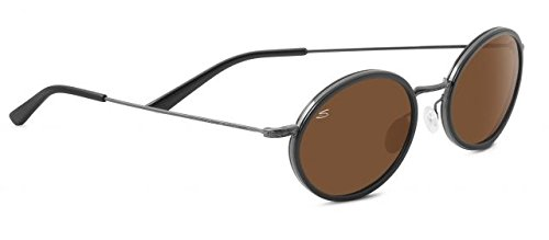Serengeti 8103 Sirolo Sunglasses, Shiny Black Frame, Polarized Drivers Lens