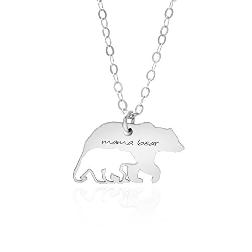 Mama Bear Necklace - Sterling Silver - A Premium Made Necklace For New Moms