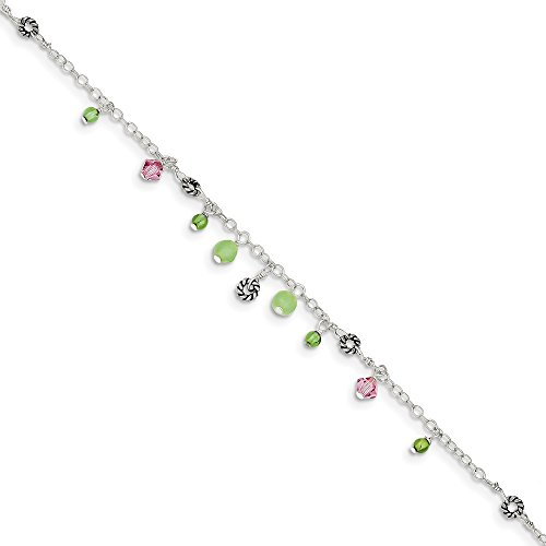925 Sterling Silver Pink...