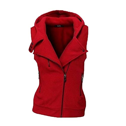 Open Casual Front Turn Jacket Sleeveless Autumn Check Women Red Vest Mxssi Neck Waistcoat Down Ladies Office Cardigan 8XAzwp6n