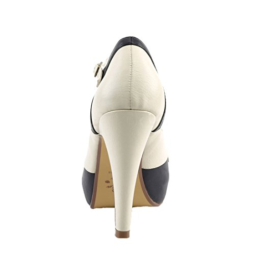Navy Couture Faux 29 Leather Bettie cream Pin Blue Up 0Iq50nH