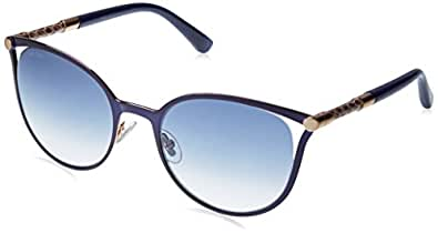 Jimmy Choo Neiza/S 0J6S Matte Blue U3 gray gradient lens Sunglasses