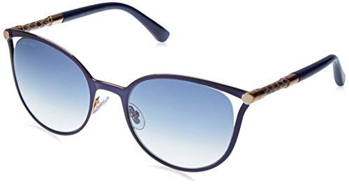 Jimmy Choo Neiza/S 0J6S Matte Blue U3 gray gradient lens - Choo Sunglasses Crystals Jimmy With