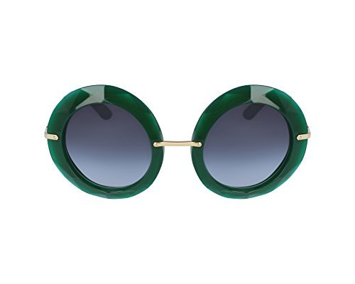 Dolce & Gabbana Women's Injected Woman Round Sunglasses, Transparent Green, 50 - Dolce Green And Gabbana Sunglasses