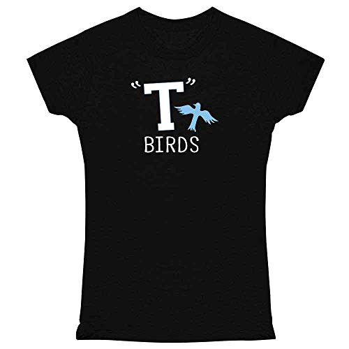 (T Birds Gang Logo Costume Retro 50s 60s Black M Womens Tee)