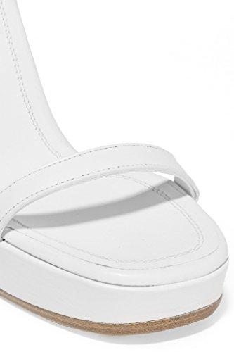 Kolnoo Damen Mode Sandalen Handgemachte Wölbungs Bügel Keil Ferse Partei Hochzeit Sommer Schuhe White