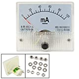 85C1-A DC 0-100mA Analog Panel Meter Ammeter w Installing Parts