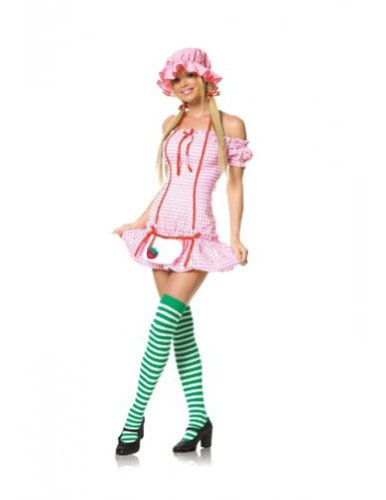 Sexy Strawberry Girl Costume - Strawberry Shortcake Halloween Costumes Adult