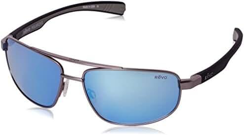 Revo Wraith Double Brow Bar Rectangular Polarized Sunglasses, RE1018