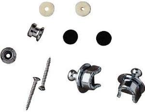 Fender Schaller 099-0690-000 - Strap Locks Chrome, Paquete de 2