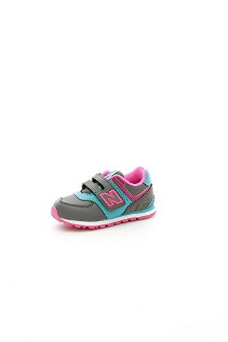 New Balance - Zapatillas de gimnasia para niña Gris Grigio/Rosa Grigio/Rosa