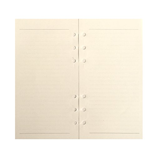 (Line Refill Paper for 6 inch A6 6-Holes Cover Round Ring Binder File Folder pack of 2)