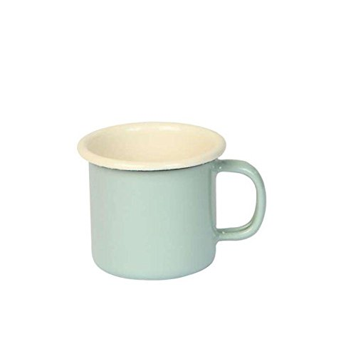 Dexam 150 ml Enamelled Steel Vintage Espresso Mug, Sage