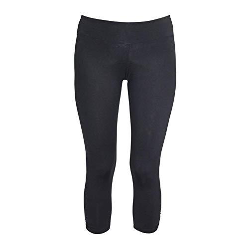 Koral Womens Side Shirred Capri Black Medium