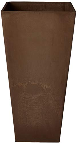 Arcadia Chocolate - Arcadia Garden Products PSW UFH41C Contemporary Tall Square Planter, 16 by 16 by 32