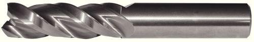 WIDIA Hanita 5A0316006 AluSurf 5A03 HP Aluminum End Mill, 0.625'' Cutting Dia, Carbide, Uncoated, RH Cut, 0.625'' Shank Dia, 3-Flute