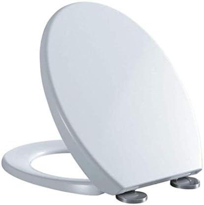 IAIZI 大人、ホワイト用便座ユニバーサル便座Vシェイプドロップミュート抗菌尿素 - ホルムアルデヒド樹脂トップマウントトイレのふた